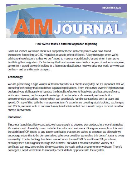 AIM Journal December