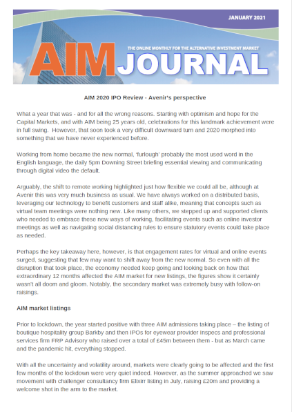 AIM Journal January 2021