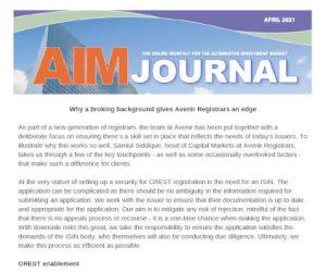 AIM Journal April 2021