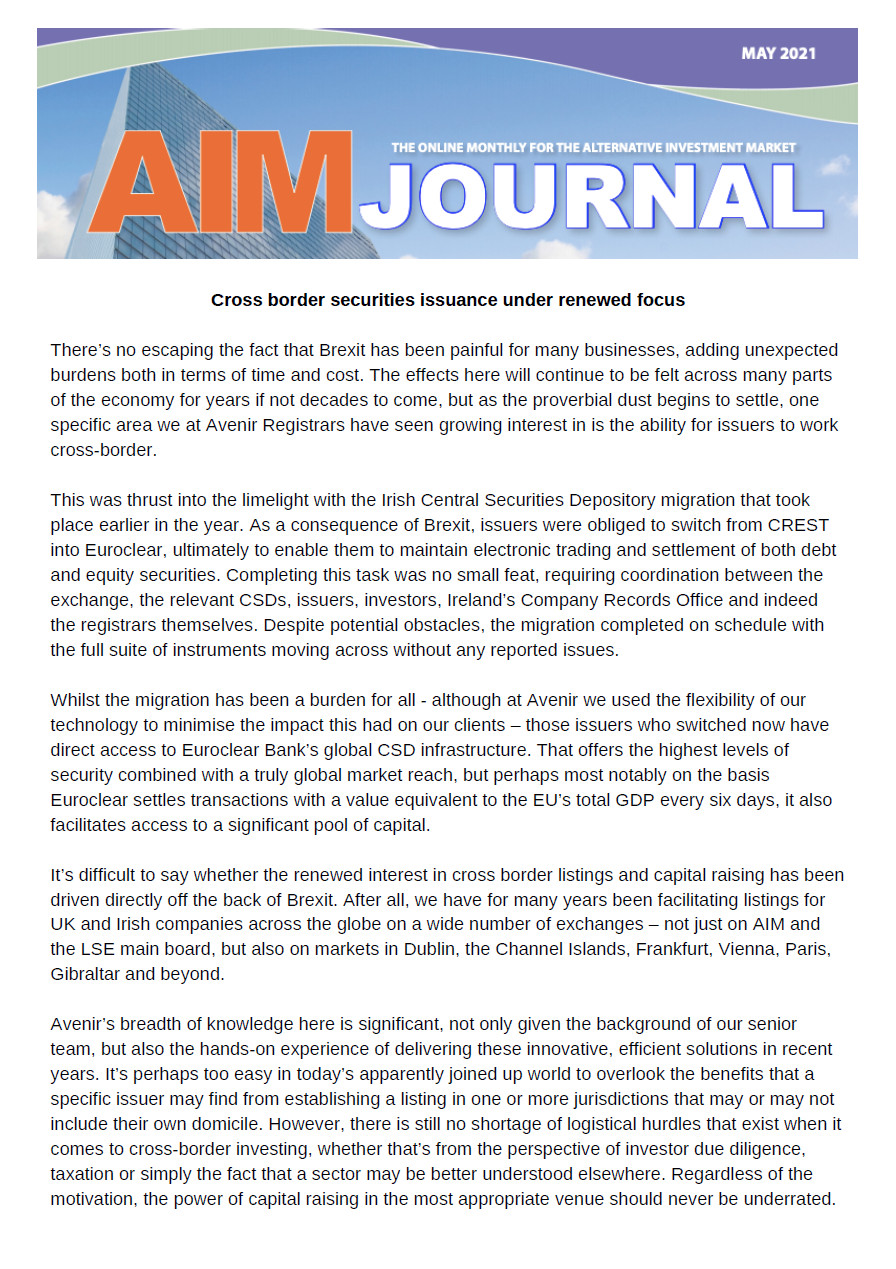 AIM Journal May 2021